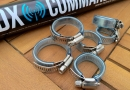 Stainless hose-clamps with 8mm ID tubing
