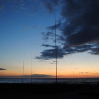 Obligatory evening shot of a three element 40m array