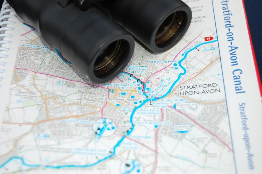 Stratford Upon Avon Canal Map