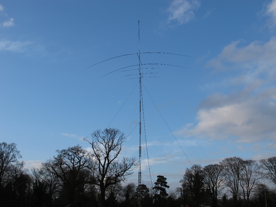 Home made 40m yagi above tribander at 100 feet