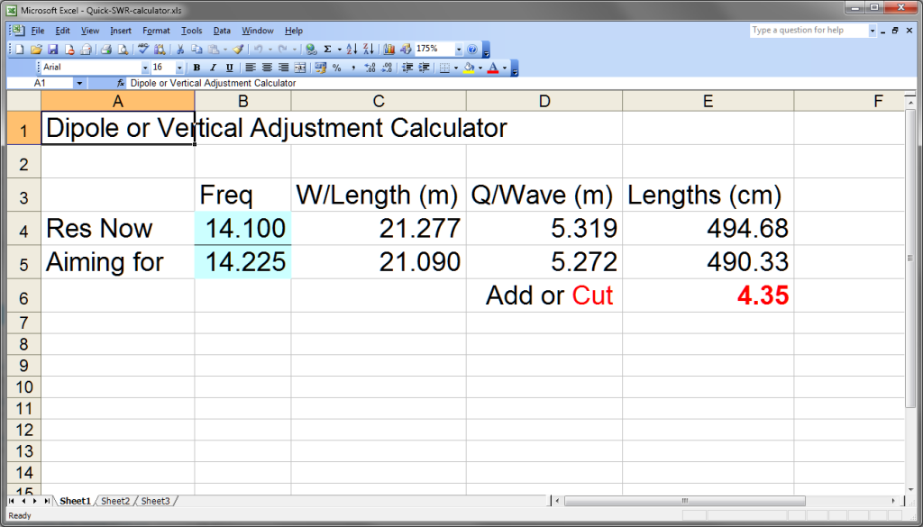 Quick SWR Calculator for Vertical and Dipole Ham Radio Antennas | DX